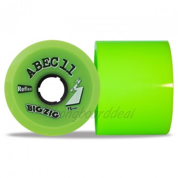 ABEC 11 BigZigs 75mm 80a Lime longboard wielen