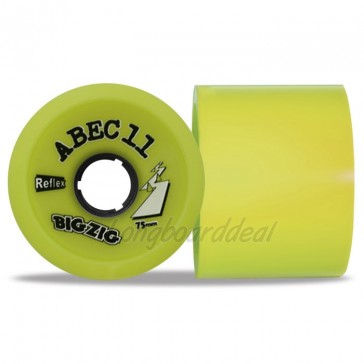 ABEC 11 BigZigs 75mm 83a Lemon longboard wielen