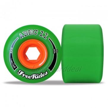 ABEC 11 CenterSet FreeRides 72mm longboard wielen