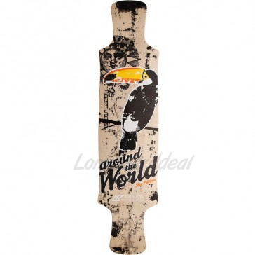 "Airflow Around the World 39.75"" longboard deck"