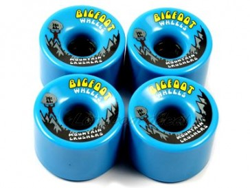 Bigfoot Mountain Crushers Cyan 76mm Longboard Wielen (83a)