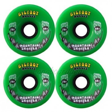 Bigfoot Mountain Cruisers Green 76mm Longboard Wielen (80a)
