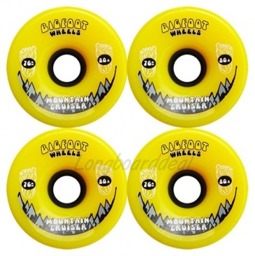 Bigfoot Mountain Cruisers Yellow 76mm Longboard Wielen (80a)