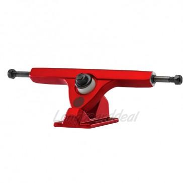 "Caliber II Fifty 10"" Satin Red longboard trucks"