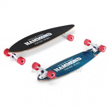 "Hammond City Surfer Pintail 40"" longboard complete"