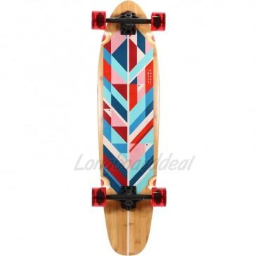 "Landyachtz Bamboo Ripper Geo Feather 37"" longboard complete"