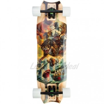 "Landyachtz Wolf Shark Mini 32.5"" Skeleton Warrior complete"