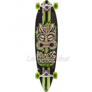"Mindless Rogue II Tribal Black-Green 38"" pintail longboard complete"