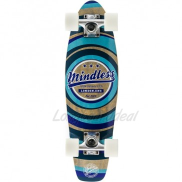 """Mindless Stained Daily II Blue 24"""" mini cruiser complete"""