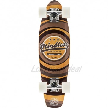 """Mindless Stained Daily II Brown 24"""" mini cruiser complete"""
