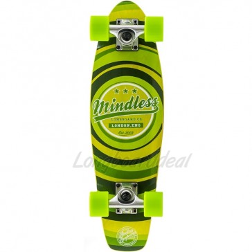 """Mindless Stained Daily II Green 24"""" mini cruiser complete"""