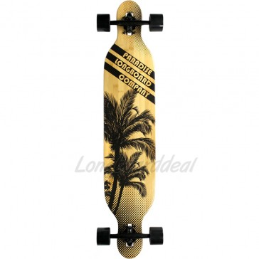 """Paradise Brown Palms 42"""" drop-through longboard complete"""