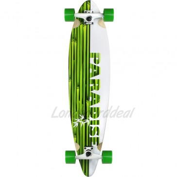 """Paradise White Bamboo 41"""" pintail longboard complete"""