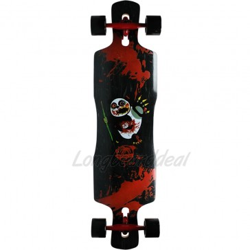 "Paradise Zombie Panda 39.5"" drop-through longboard complete"