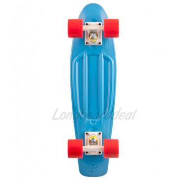 "Penny Original Cyan Red 22"" retro skateboard complete"