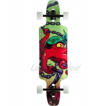 """Restless Splinter Red Octopus 35"""" longboard complete"""
