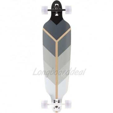 "Voltage Directional DT Grey 39.75"" longboard complete"