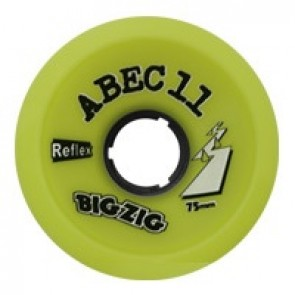 ABEC 11 BigZigs 75mm 83a Lemon longboard wielen