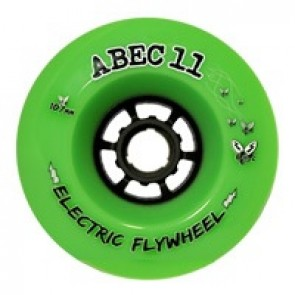 ABEC 11 Electric Flywheels 107mm 80a Lime longboard wielen