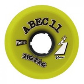 ABEC 11 ZigZags 66mm 83a Lemon longboard wielen