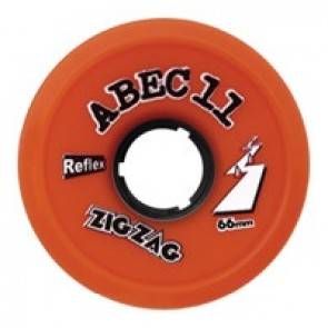ABEC 11 ZigZags 66mm 89a Orange Plus longboard wielen