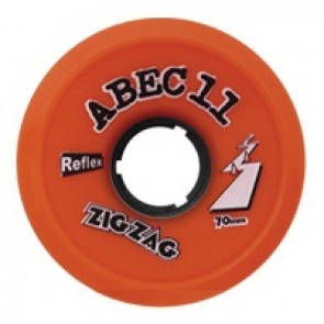 ABEC 11 ZigZags 70mm 89a Orange Plus longboard wielen