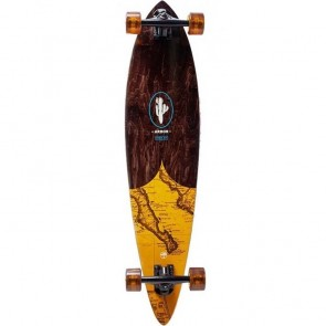 """Arbor Fish Groundswell Map 37"""" pintail longboard complete"""