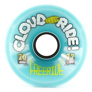 Cloud Ride Freeride 70mm 77a Light Blue longboard wheels