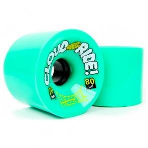 Cloud Ride Freeride 70mm 80a Green longboard wheels