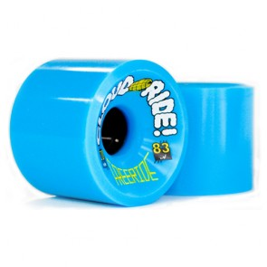 Cloud Ride Freeride 70mm 83a Blue longboard wheels