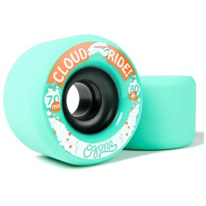 Cloud Ride Ozone 70mm 80a Green longboard wheels