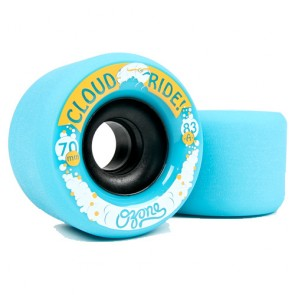 Cloud Ride Ozone 70mm 83a Blue longboard wheels