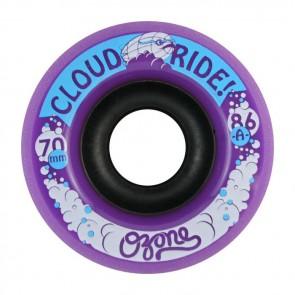Cloud Ride Ozone 70mm 86a Purple longboard wheels