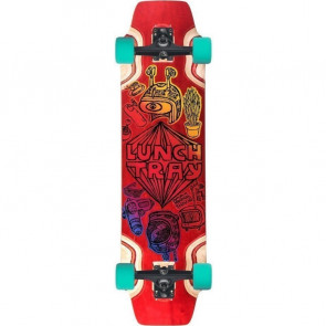"""DB Lunch Tray Cartoon Red 36"""" longboard complete"""