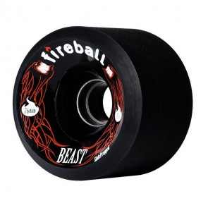 Fireball Beast Black 76mm 87a longboard wheels