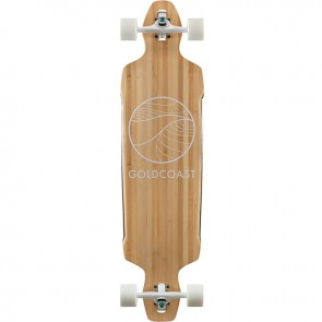 "Goldcoast Classic Bamboo Drop-Through 38"" longboard complete"