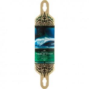 """Gravity Drop-Carve Olas Azul 41"""" Longboard Deck"""