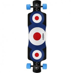 "Hammond Free Ride Star 39"" drop-through longboard complete"