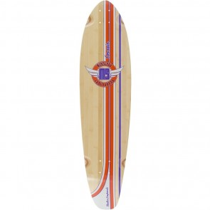 "Mindless Corsair Orange-Purple 38.25"" kicktail longboard deck"