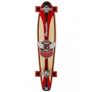 "Mindless Marauder II Orange 42.5"" kicktail longboard complete"