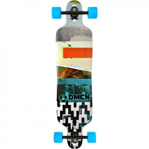 "Omen Abstract 41"" drop-through longboard complete"