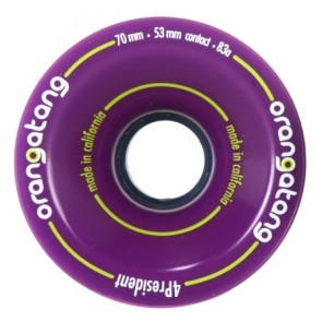 Orangatang 4President 70mm 83a Purple longboard wheels