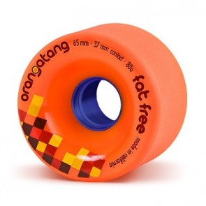 Orangatang Fat Free 65mm 80a Orange longboard wheels