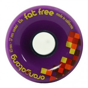 Orangatang Fat Free 65mm 83a Purple longboard wheels