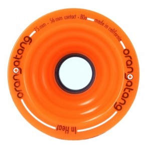 Orangatang In Heat 75mm 80a Orange longboard wheels