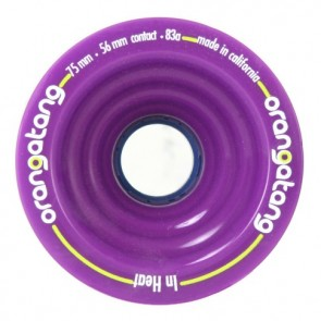 Orangatang In Heat 75mm 83a Purple longboard wheels