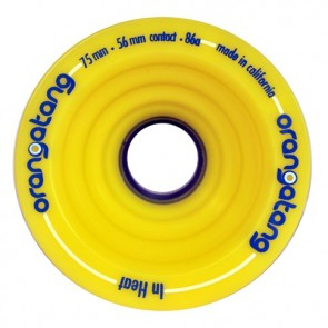 Orangatang In Heat 75mm 86a Yellow longboard wheels