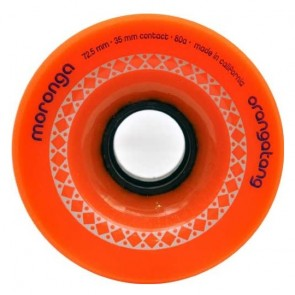Orangatang Moronga 72.5mm 80a Orange longboard wheels