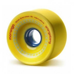 Orangatang Moronga 72.5mm 86a Yellow longboard wheels