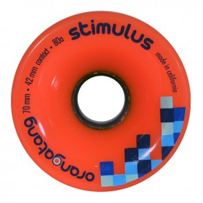 Orangatang Stimulus 70mm 80a Orange longboard wheels